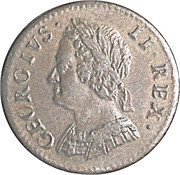 1 Farthing - George II (older bust) – obverse