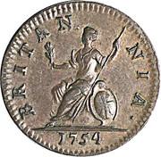 1 Farthing - George II (older bust) – reverse