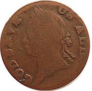 ½ Penny (God Save Us All - Hibernia) -  obverse