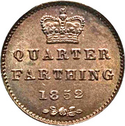 ¼ Farthing - Victoria – reverse
