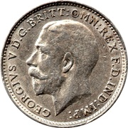 3 Pence - George V (1st issue; incl. Maundy) -  obverse