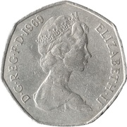 50 New Pence - Elizabeth II (2nd portrait) -  obverse
