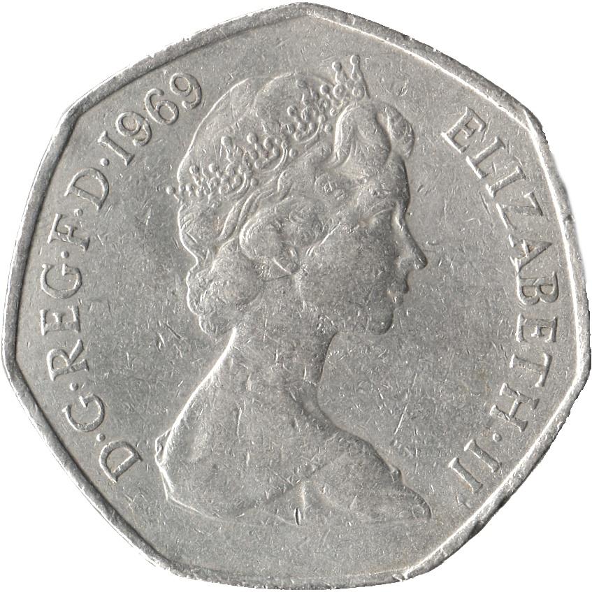 50 New Pence Elizabeth Ii 2nd Portrait United