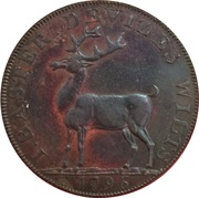½ Penny (Wiltshire - Devizes / J. Baster) – reverse
