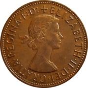 1 Penny - Elizabeth II (1st portrait; without 'BRITT:OMN') -  obverse