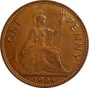1 Penny - Elizabeth II (1st portrait; without 'BRITT:OMN') -  reverse