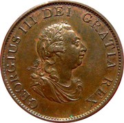½ Penny - George III (3rd issue) -  obverse