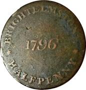 ½ Penny (Sussex - Brightelmstone / W. Mighell) – reverse