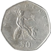 50 New Pence - Elizabeth II (2nd portrait) -  reverse