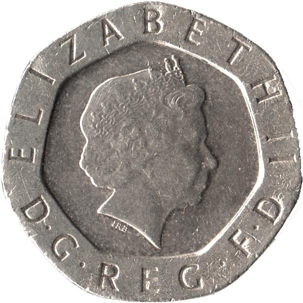 20 Pence Elizabeth Ii 4th Portrait