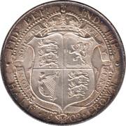 ½ Crown - Edward VII -  reverse