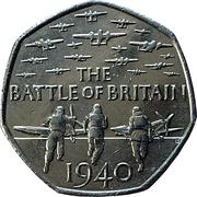50 Pence - Elizabeth II (5th portrait; Battle of Britain) -  reverse