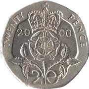 20 Pence - Elizabeth II (4th portrait; Tudor Rose) -  reverse