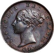½ Penny - Victoria (1st portrait) – obverse