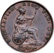 ½ Penny - Victoria (1st portrait) – reverse