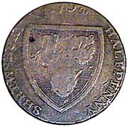 ½ Penny (Shropshire - Shrewsbury / Woolpack) -  obverse