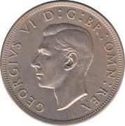 ½ Crown - George VI (3rd type; no 'IND:IMP') -  obverse