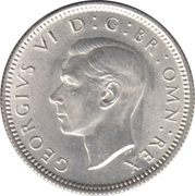 6 Pence - George VI (1st coinage) -  obverse