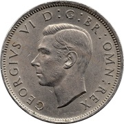 2 Shillings - George VI (with 'IND:IMP') -  obverse