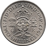 2 Shillings - George VI (with 'IND:IMP') -  reverse