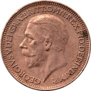 1 Farthing - George V (modified effigy) -  obverse