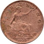 1 Farthing - George V (modified effigy) -  reverse