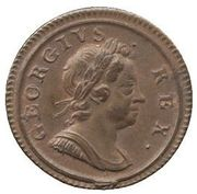 1 Farthing - George I (small planchet) – obverse