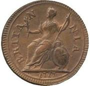 1 Farthing - George I ('Dump' issue) – reverse