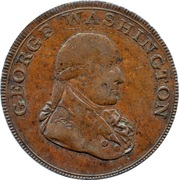 ½ Penny (Middlesex - George Washington) – obverse