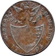 ½ Penny (Middlesex - George Washington) – reverse