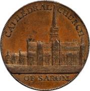 ½ Penny (Wiltshire - Salisbury / J. & T. Sharpes) – obverse