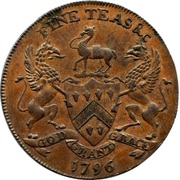 ½ Penny (Wiltshire - Salisbury / J. & T. Sharpes) – reverse