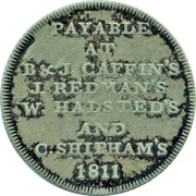 1 Shilling (Sussex - Chichester / Accommodation) – reverse