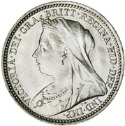 3 Pence - Victoria (3rd portrait; incl. Maundy) -  obverse