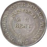 1 Shilling (Dorsetshire - Poole / W.B. Best) – obverse