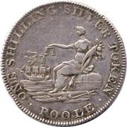 1 Shilling (Dorsetshire - Poole / W.B. Best) – reverse