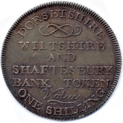 1 Shilling (Dorsetshire - Shaftesbury / Bank Token) – reverse