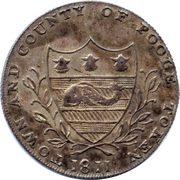 1 Shilling (Dorsetshire - Poole / J. Ferris) – obverse