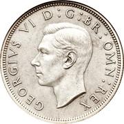 ½ Crown - George VI (1st type) -  obverse