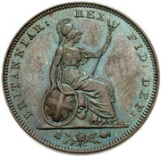 1 Farthing - George IV (2nd issue) – reverse