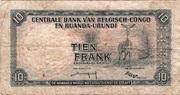 10 Francs type 1957 – reverse