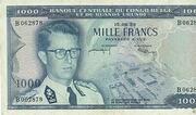 1000 Francs( Baudoin) – obverse