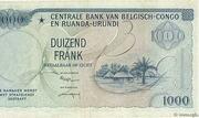 1000 Francs( Baudoin) – reverse