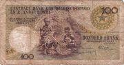 100 Francs (Léopold II) – reverse