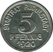 5 Pfennig - Rudolstadt (Charlotte v. Schiller) – obverse