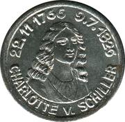 5 Pfennig - Rudolstadt (Charlotte v. Schiller) – reverse
