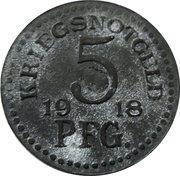 5 Pfennig - Rudolstadt – reverse