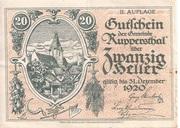 20 Heller (Ruppersthal) -  obverse