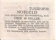 20 Heller (Ruppersthal) -  reverse