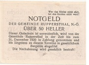 50 Heller (Ruppersthal) – reverse